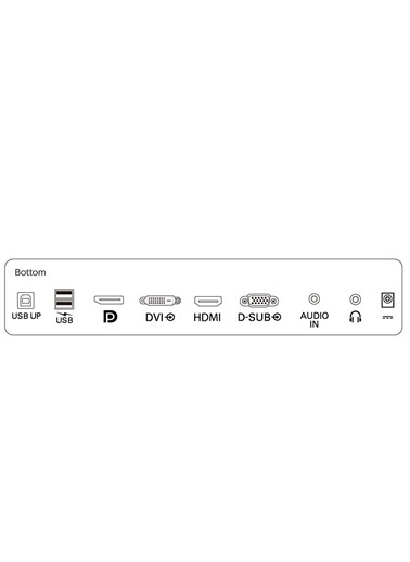 Philips 21.5 222B9T/00 1920x1080 VGA DVI HDMI DP 1ms Dokunmatik Siyah Monitör Siyah